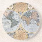 Beautiful Antique Atlas Map Coaster