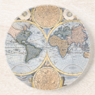 Beautiful Antique Atlas Map Coaster