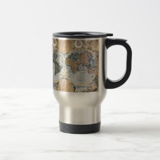 Beautiful Antique Atlas Map Travel Mug