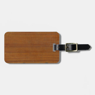 Beautiful Antique Inspired Textured Wood Luggage Tag