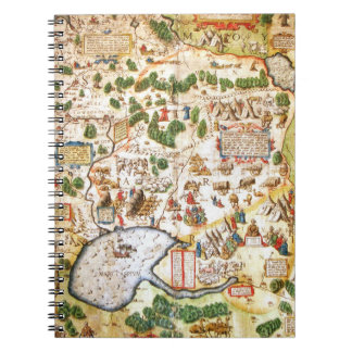 Beautiful Antique Map of Northern Russia Spiral Notebook
