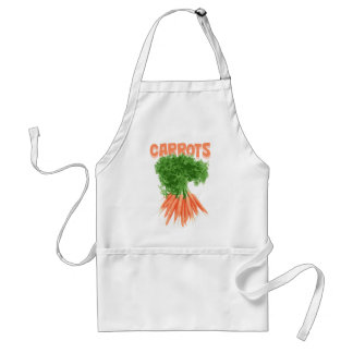 Beautiful apron with carrots style image.