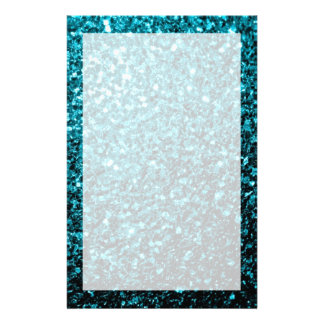 Beautiful Aqua blue glitter sparkles Stationery
