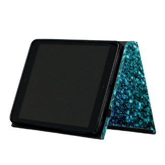 Beautiful Aqua blue Ombre glitter sparkles Cover For iPad Mini