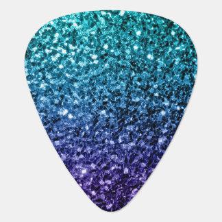 Beautiful Aqua blue Ombre glitter sparkles Guitar Pick