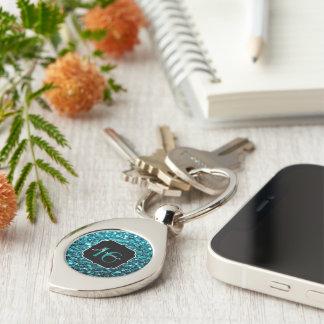 Beautiful Aqua Blue sparkles Sweet 16 keychain