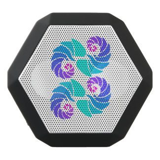 Beautiful aqua dance black bluetooth speaker