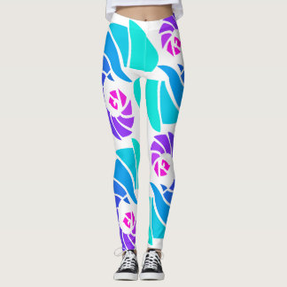 Beautiful aqua dance leggings