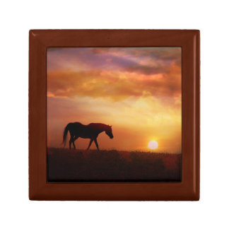 Beautiful Arabian Horse and Sunrise Gift Box