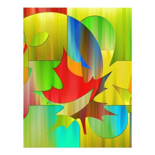 beautiful art plant colors custom letterhead