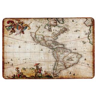 Beautiful Art Vintage Map of North America Floor Mat