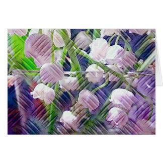 Beautiful Artistically Altered Lily of the Valley Card