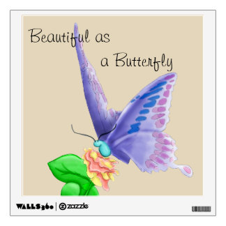 Beautiful as a Butterfly Wall Decal