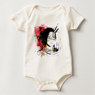 Beautiful Asian Girl Baby Bodysuit