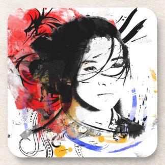Beautiful Asian Girl Drink Coaster