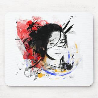 Beautiful Asian Girl Mouse Pad