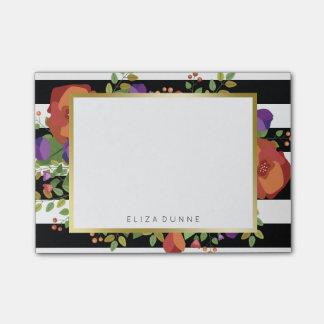 Beautiful Autumn Bouquet Custom Name Post-it Notes