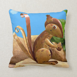 Beautiful Autumn Day With Squirrel. Throw Pillow