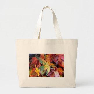 Beautiful autumn leaves print large tote bag