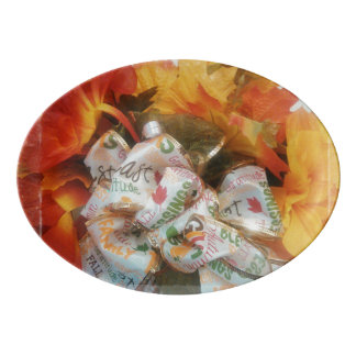 """Beautiful Autumn"" Porcelain Coupe Platter"