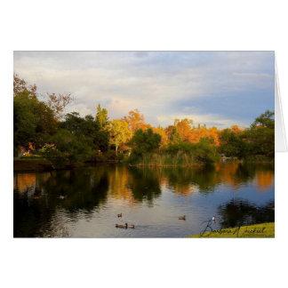 Beautiful autumn reflection on a card