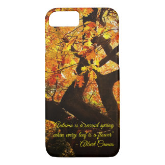 Beautiful Autumn Tree Art with Customizable Text Case-Mate iPhone Case