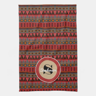 Beautiful Aztec w/Monogram Kitchen Towel