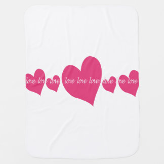 Beautiful baby blanket with love and heart design