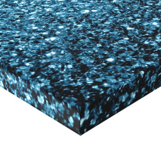 Beautiful Baby blue glitter sparkles Canvas Print