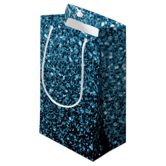 Beautiful Baby blue glitter sparkles Small Gift Bag