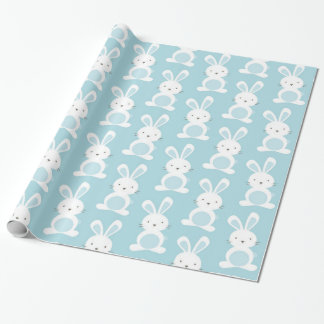Beautiful Baby Boy Light Blue Rabbit This is a bea Wrapping Paper