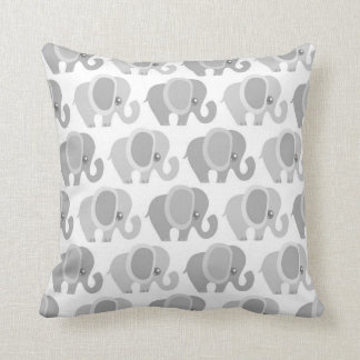 Beautiful Baby Elephants Throw Pillow