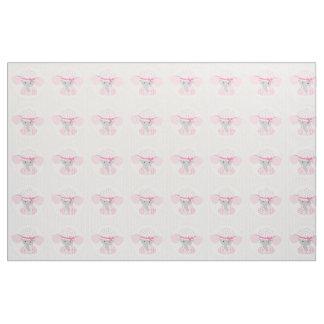 Beautiful Baby Girl Pink Elephant Fabric