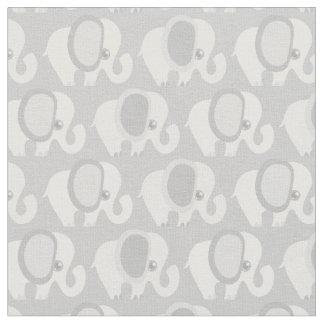 Beautiful Baby Gray Elephants Fabric