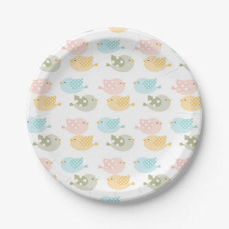 Beautiful Baby Infant Children's Bird Pattern Paper Plate