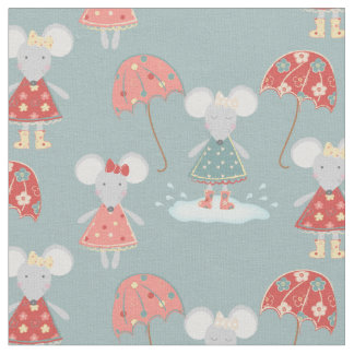 Beautiful Baby Mouse Pattern Fabric
