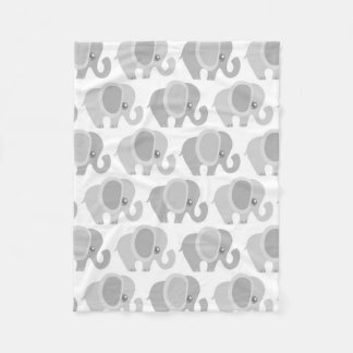 Beautiful Baby Neutral Elephant Fleece Blanket