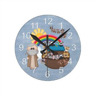 Beautiful Baby Noah's Ark Round Clock