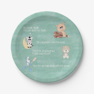 Beautiful Baby Nursery Rhymes Paper Plate