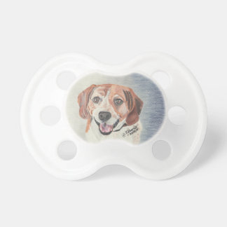 Beautiful Baby Pacifier with Beagle