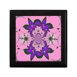 Beautiful baby pink floral purple shade motif mono keepsake boxes