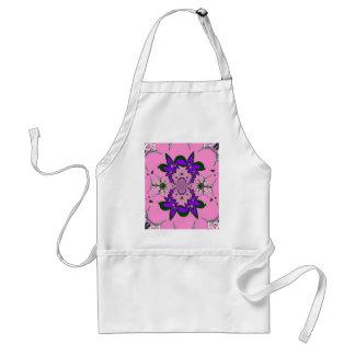 Beautiful baby pink floral purple shade motif mono standard apron