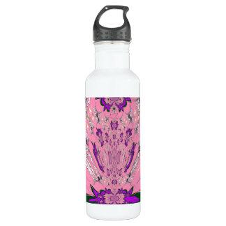 Beautiful baby pink  purple shade motif monogram 710 ml water bottle