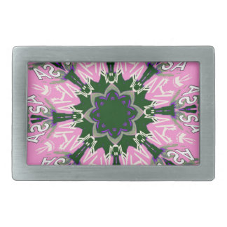 Beautiful baby pink purple shade motif monogram de belt buckle
