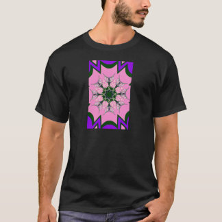 Beautiful baby pink purple shade motif monogram de T-Shirt
