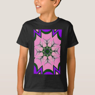 Beautiful baby pink purple shade motif monogram de T-Shirt