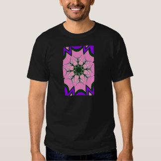 Beautiful baby pink purple shade motif monogram de tee shirts