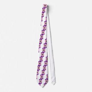 Beautiful baby pink purple shade motif monogram de tie