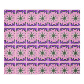 Beautiful baby pink  purple shade motif monogram duvet cover