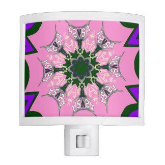 Beautiful baby pink  purple shade motif monogram night lights